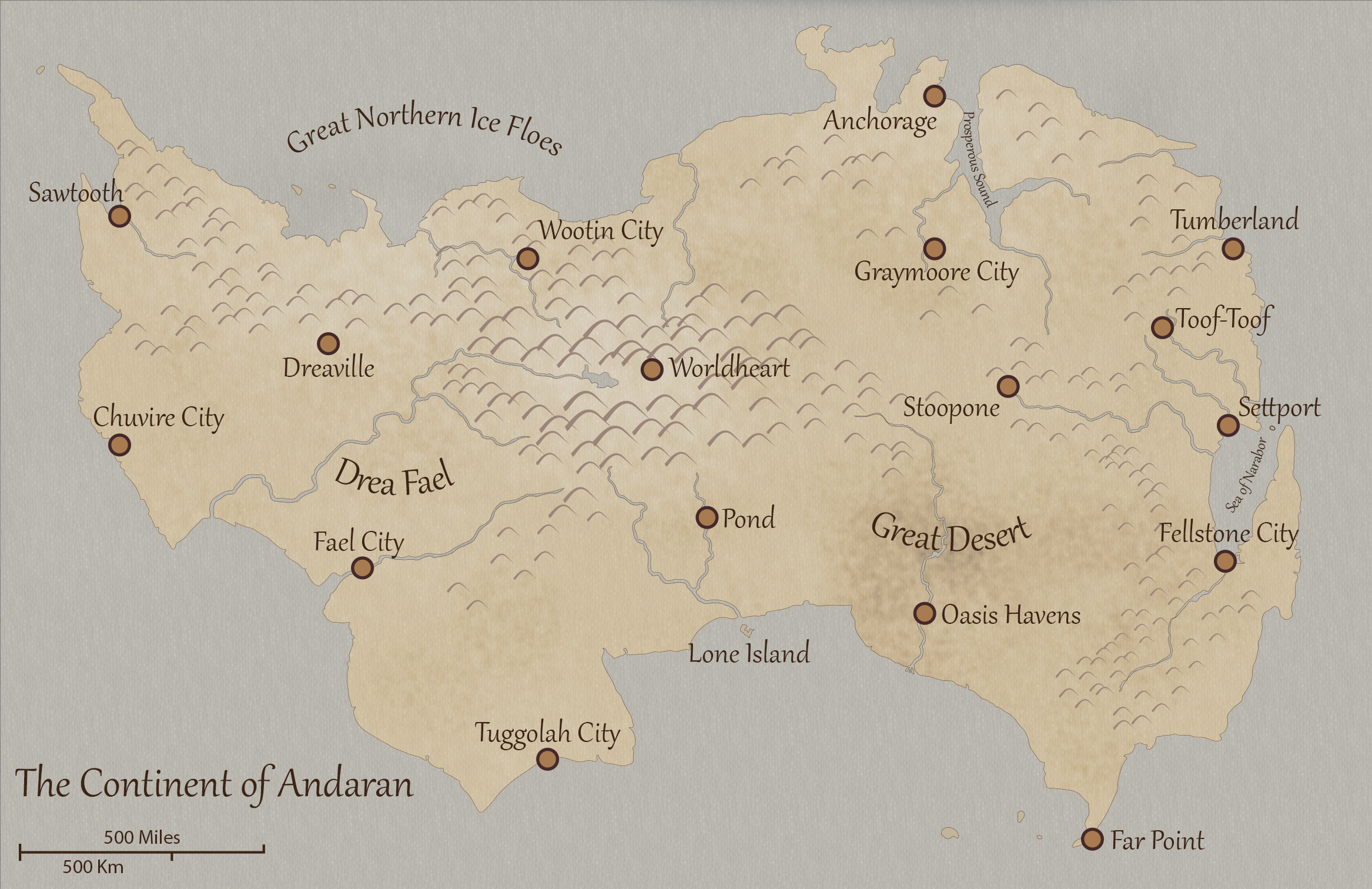 Continent of Andaran
